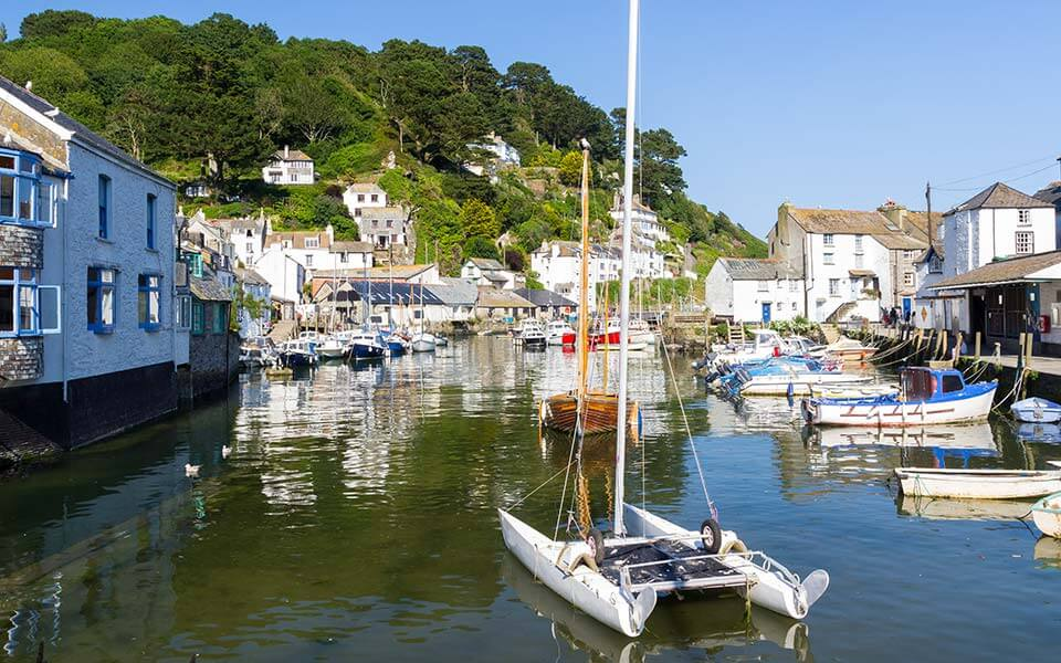 Historic harbour Polperro Cornwall