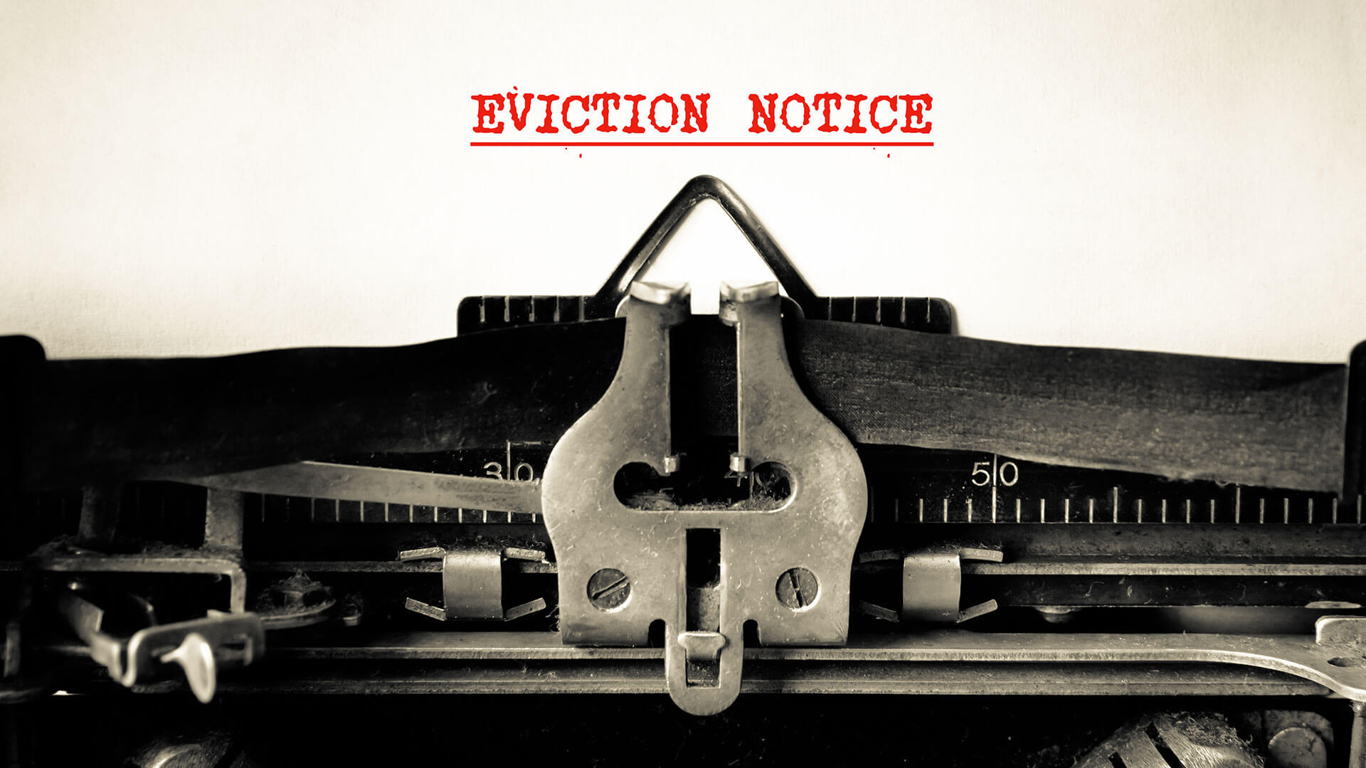 Typing eviction notice