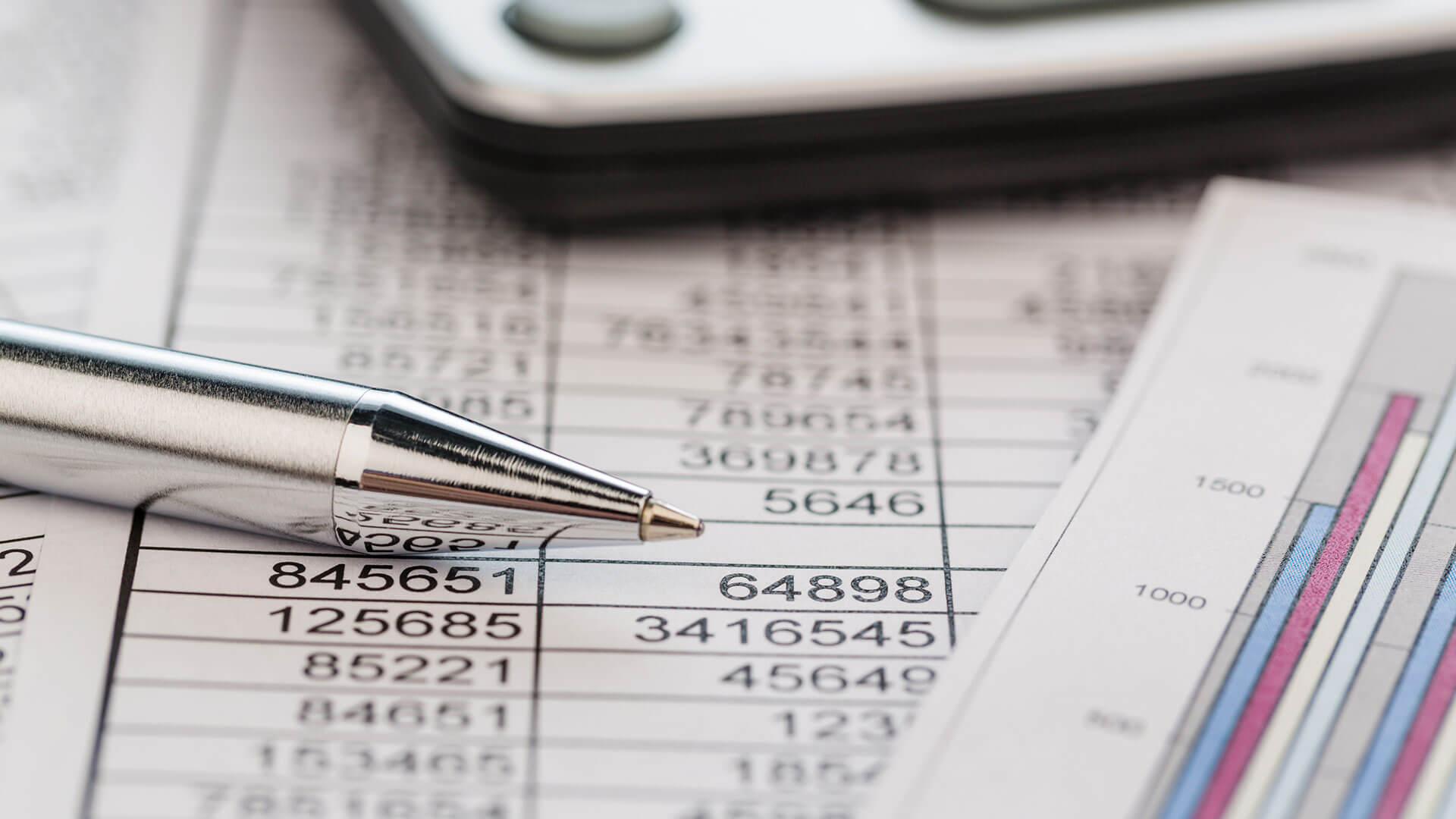 Financial documents on a table
