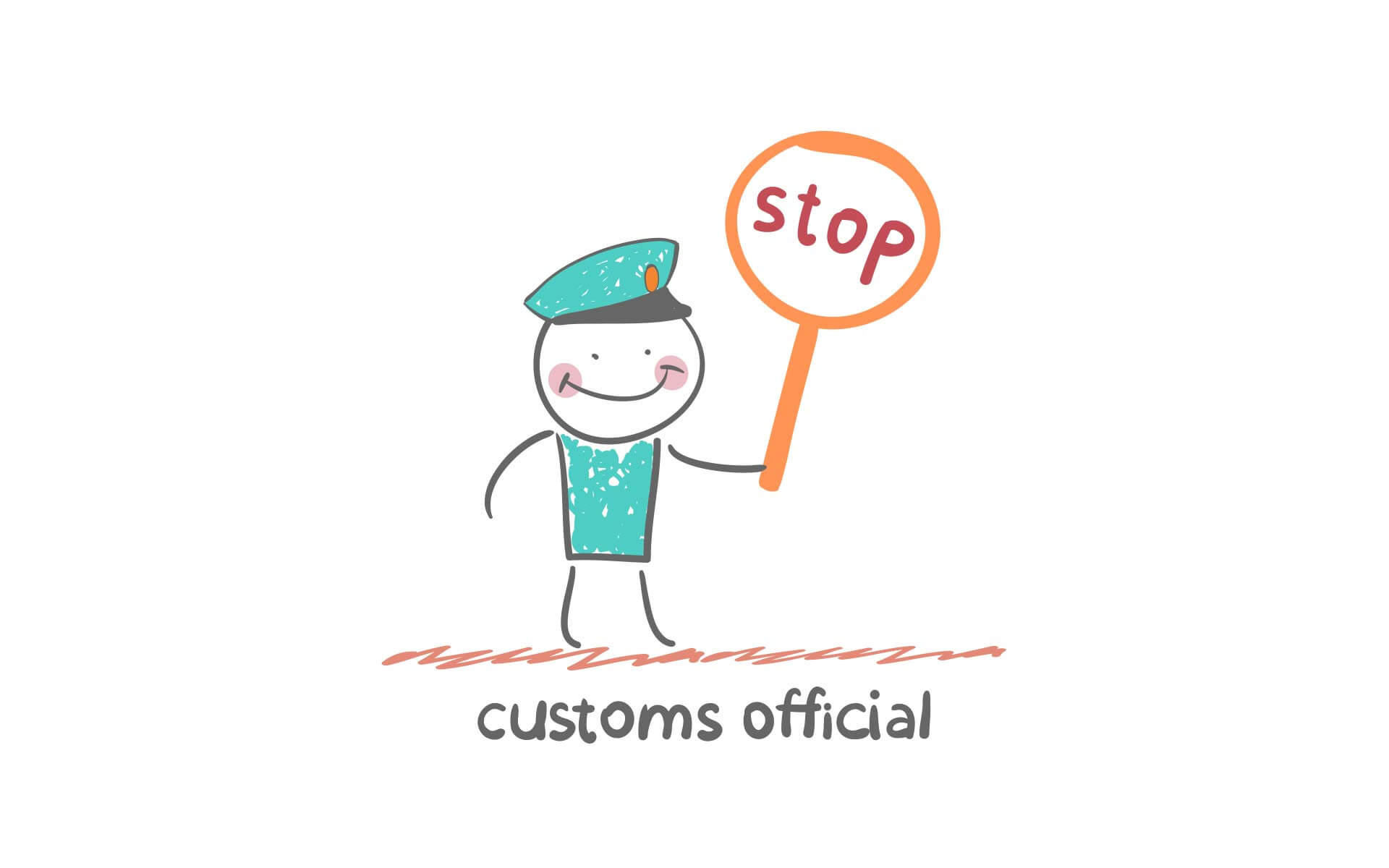 Stop, custom official
