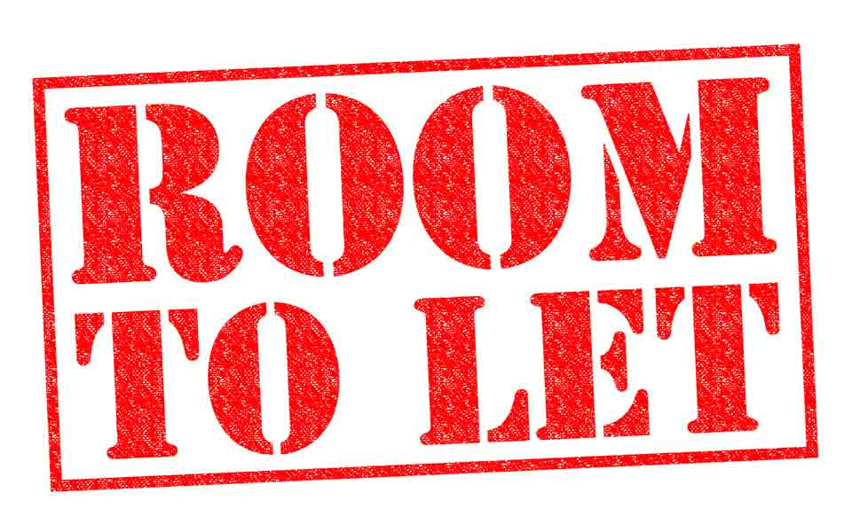 red room to let sign